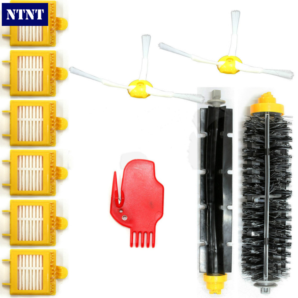 NTNT Free Post New Filter Brush Replenishment Kit For iRobot Roomba 700 760 770 780 790 Series ntnt free post new replace 2 pack brush filter mini kit for irobot roomba 700 series 760 770 780
