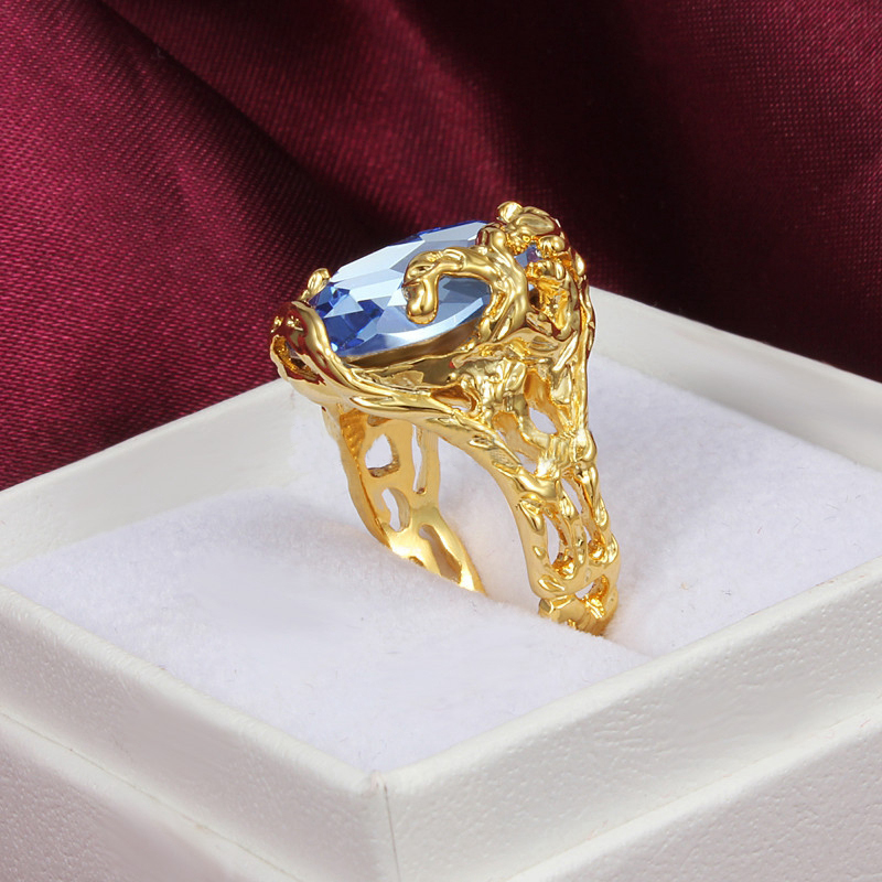 SHUANG Luxury New Arrival Hot Selling Gold-color Fashion Ring Nice Shipping CZ Ring Jewellery for Women Men Wholesale
