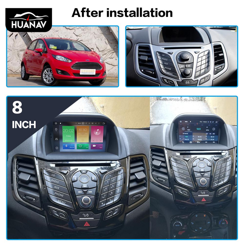 Android 9 Car DVD Player GPS Navigation For Ford Fiesta MK7 2013 2014 2015 2016 Car Radio Player Auto Video Multimedia Head Unit