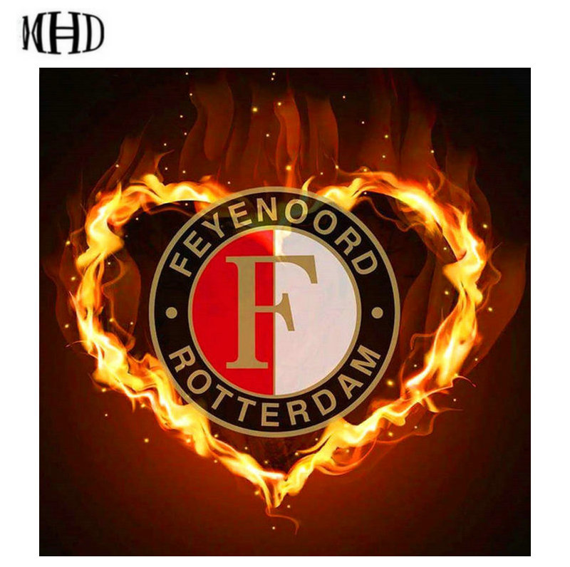 MHD 3D Diamond Embroidery F Heart Logo Full and Round 5D Diamond Inlay Cross Stitch Sewing DIY Home Wallpaper Collection Gifts