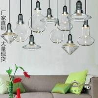 American style creative crystal glass lamp diamond pendant cafe restaurant bar counter glass pendant light FG985