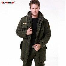 GustOmerD Новый Военная Тактическая Куртка Мужчины Теплый Хлопок Пальто Высокого Качества С Капюшоном Камуфляж Army Men Куртка Военная Одежда