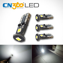 CN360 4PCS SMD 12V T10 W5W 168 194 Car LED Bulb Auto Clearance Door Reading Light Car Interior Light License Plate Lamp White(China)