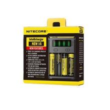 Nitecore I4 Carregador de Bateria 18650 14500 16340 26650 LCD originais Li-ion Carregador de 12 V de Entrada Charing para Um AAA AA baterias