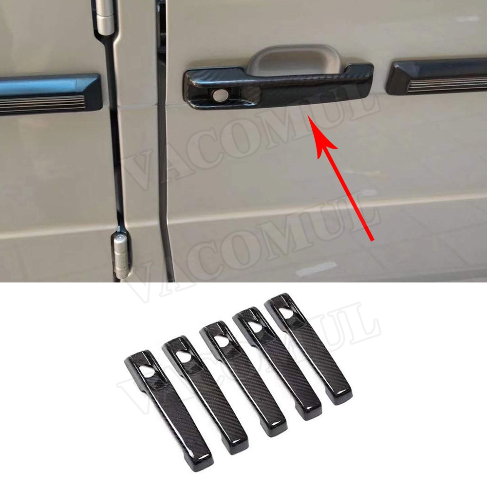 Carbon Fiber Car Door Handles Covers Trim Styling Decoration 5pcs/set For Mercedes Benz G Class W463 G55 G63 G500 G550