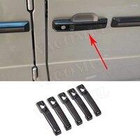 Carbon Fiber Car Door Handles Covers Trim Styling Decoration 5pcs/set For Mercedes Benz G Class W463 G55 G63 G500 G550