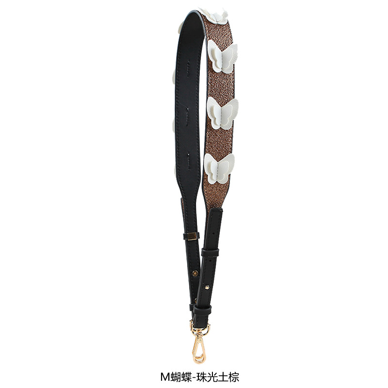 2018 New Female Bag Butterfly Wide Straps Accessories One Shoulder Inclined Across Joker Flower Strap Can Be Adjusted To You