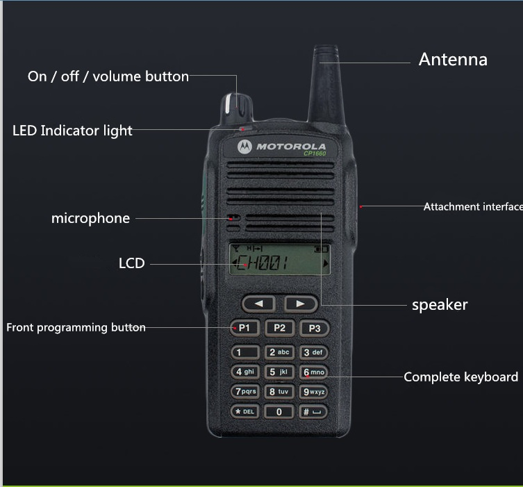 موتورولا Cp1660 Uhf Vhf جهاز لاسلكي محمول Walkie Talkie Handheld Walkie Talkieuhf Vhf Aliexpress
