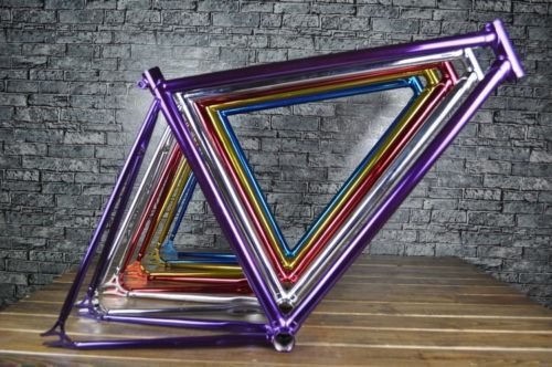 fixie Bicycle FIXED GEAR frame FIXIE VINTAGE frame and fork frameset fixie bike metallic colors fixed gear steel frame velo 53cm 55cm 58cm fixed gear bike frame matte black bike frame fixie bicycle frame aluminum alloy frame with carbon fork