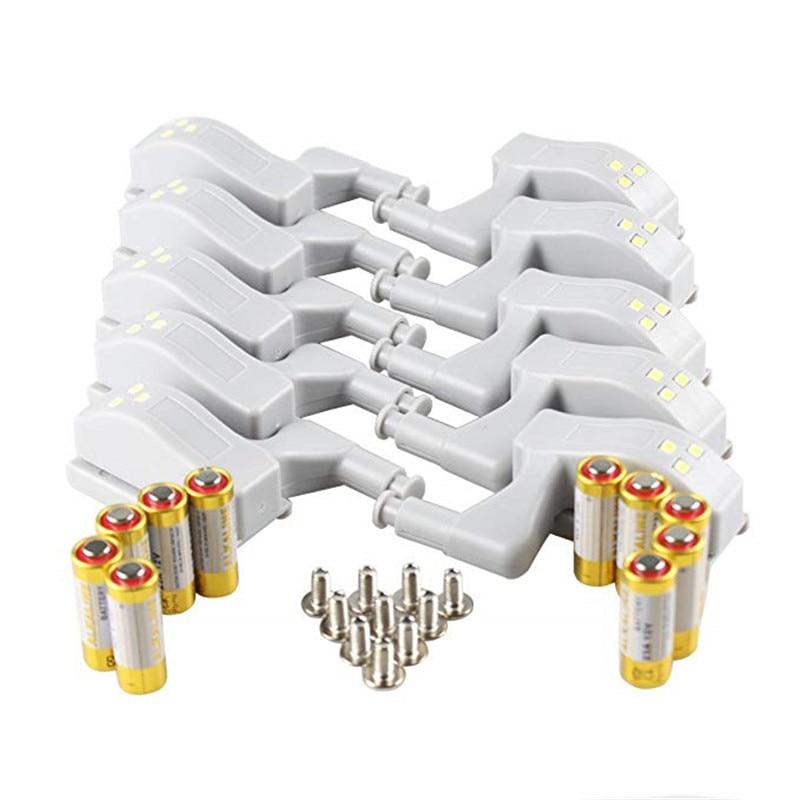 10 Uds LED Smart Touch inducción armario luz lámpara con bisagra para interior Sensor luz noche luz para armario ropero