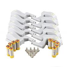 10 sztuk LED Smart Touch indukcyjne światło szafkowe szafka wewnętrzna lampa zawias czujnik oświetlenie nocne dla szafa na ubrania tanie tanio AIUNCI CN (pochodzenie) 50000 Ogniwo suche PRZEŁĄCZNIK