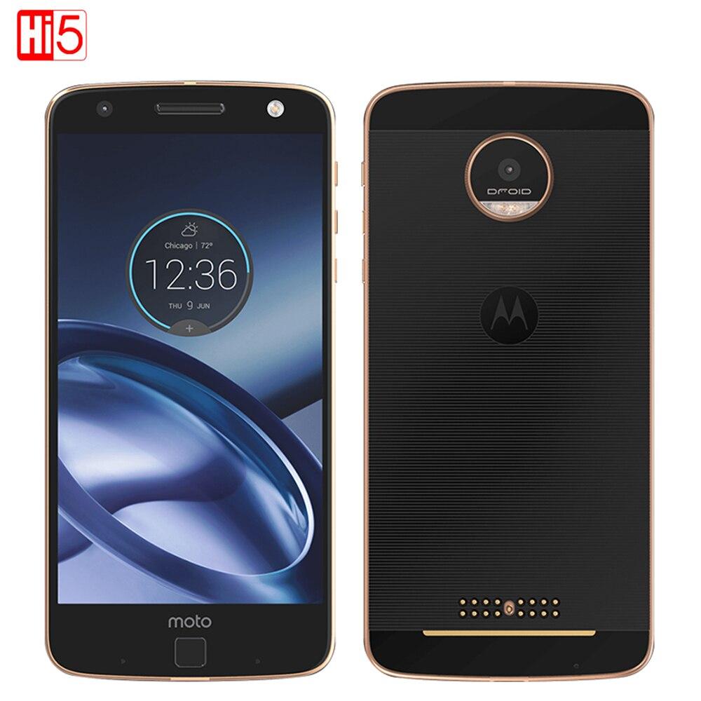 Débloqué Motorola MOTO Z XT1650-01 Mobile Téléphone Android 4 GB RAM 32 GB ROM 5.5 ''13.0MP NFC 2560*1440 4G LTE Moto 2600 mAh