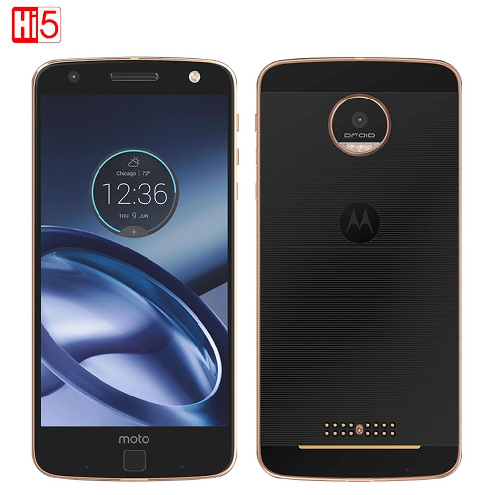 Unlocked Motorola MOTO Z XT1650 Mobile Phone Android 4GB RAM 32GB ROM 5.5'' 13.0MP NFC 2560*1440 4G LTE Moto 2600mAh