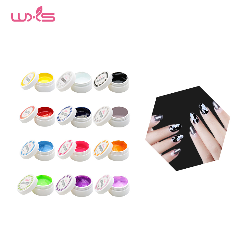 6Pcs/Kit Nail Art Decorations Gel Nail Paints Colorful Painting UV Gel Lacquer 12 Colors Acrylic Glitter Nail Polish Beauty gold and silver mixed styles acrylic 3d nail art decorations nail glitter rhinestone for uv gel nail polish