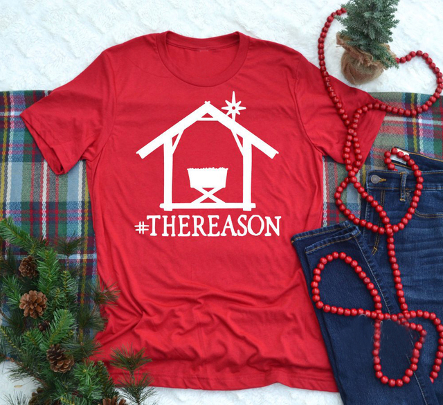 2c1598e03a #TheReason Shirt Christmas girl graphic Funny Holiday Shirt aesthetic  harajuku women fashion t-shirt red party gift quality tees