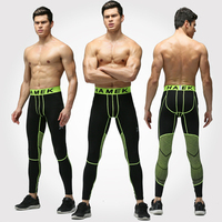 2017 Rushed Exercise Tight Pants Men's Basketball High Stretch Leggings Breathable Quick Dry Running Compression Jjsx-623-602