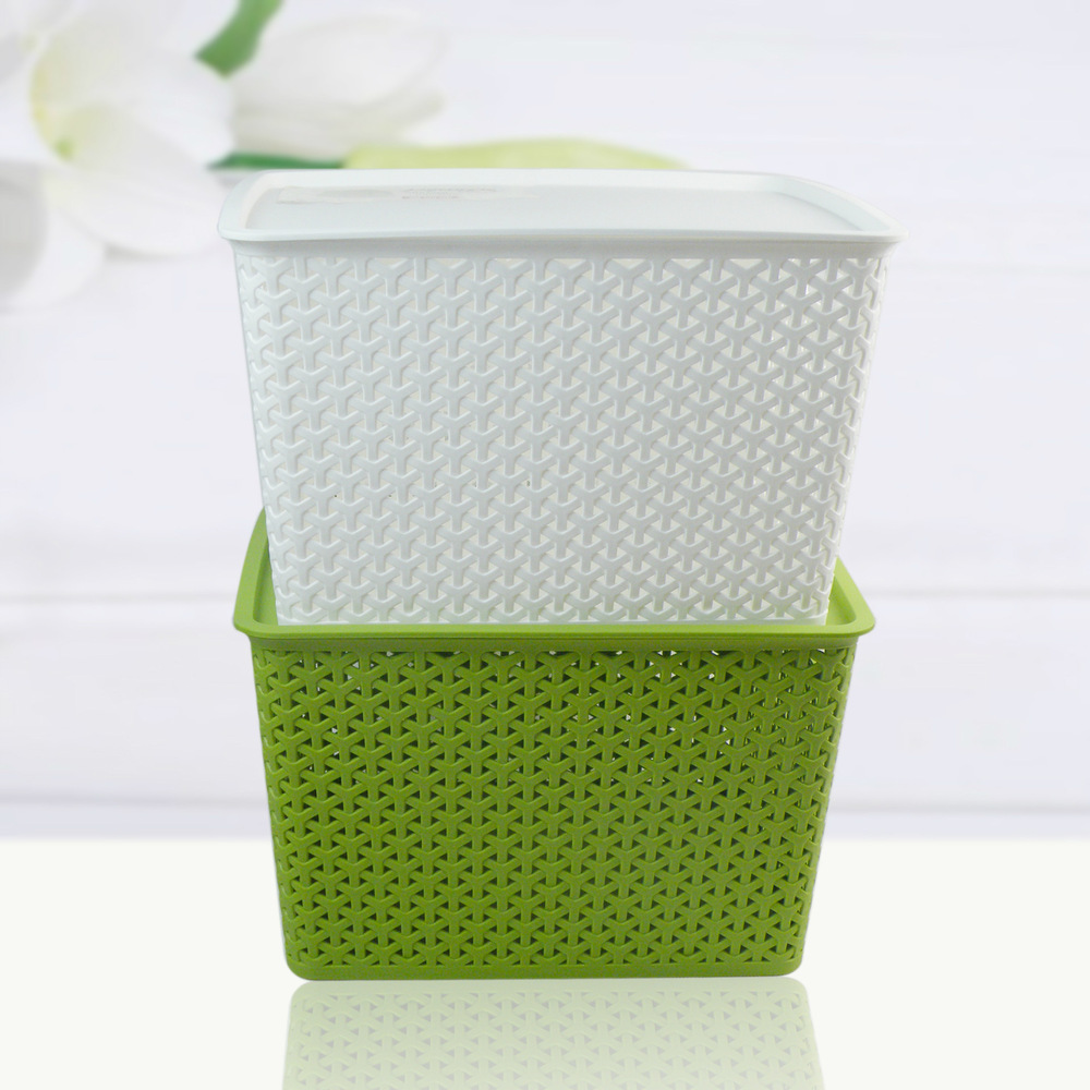 Delicieux 3318 Queen Laundry Basket Woven Plastic Shoes And Bags Plastic Storage  Baskets Storage Box Home Essential Housing In Storage Bags From Home U0026  Garden On ...