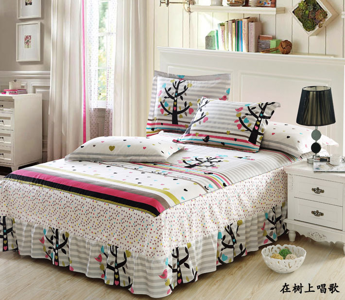 Ordinaire High Quality Cotton Anime Bed Sheets For Kids Bed Skirt Printed Mattress  Protective Case Cover Bedsheet Bedspread Twin Queen In Bed Skirt From Home  U0026 Garden ...