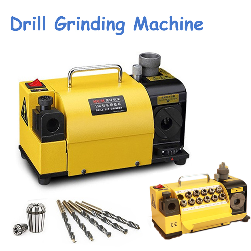 Drill Bit Grinder 110V/220V Drill Grinding Machine with CBN or SDC Wheel Easier Operation Drill Sharpener Machine MR-13A