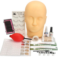 Training Eyelash Curler Kit Individual False Eyelashes Makeup Set With Flat Head Glue Tool For Eye Lash Graft Extension Tool Kit