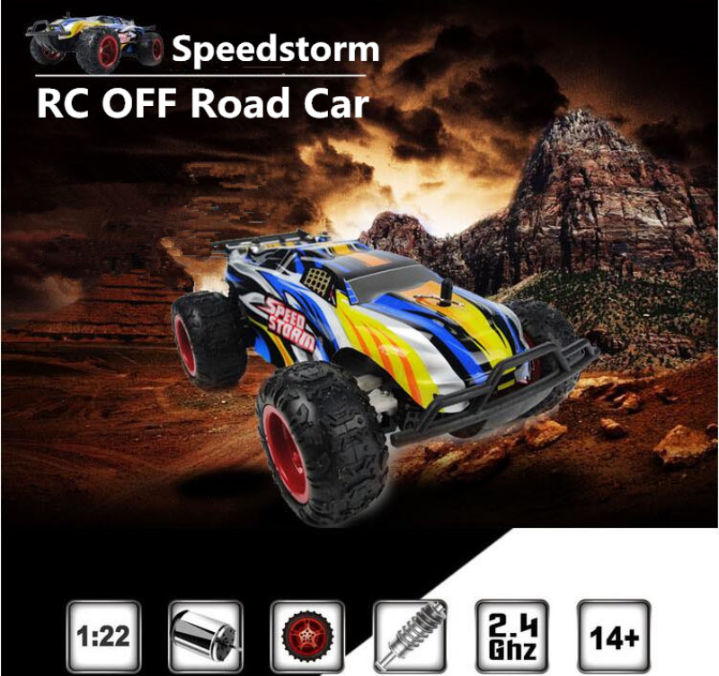 2017 Sports high speed car 9601 2.4G 1/22 electric big foot RC Buggy Speedstorm Blue Red ...