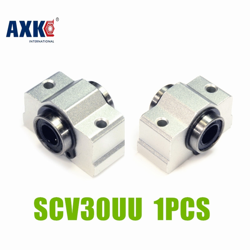 AXK Free shipping SC30VUU SC30V SCV30UU SCV30 30mm linear bearing block DIY linear slide bearing units CNC router smeg scv 115
