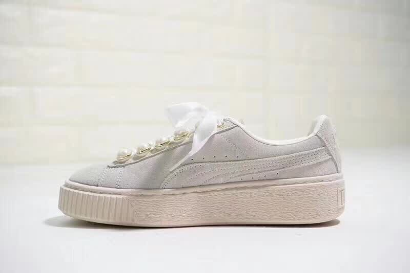 2018 PUMA FENTY Suede Cleated Creeper Women s First Generation Rihanna  Classic Basket Suede Tone Simple Badminton Shoes 36-40 282c3be78