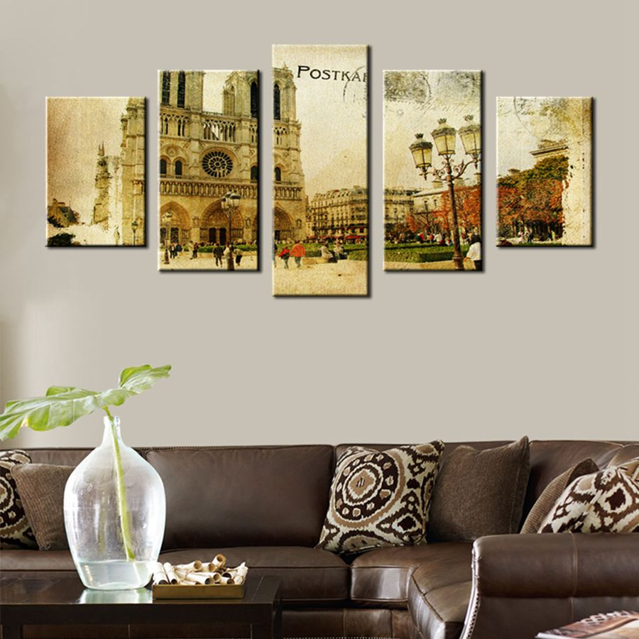retro office decor. Retro Old Castle Landscape Postcard Prints Office Decoration Modular Wall Art For Living Room Decor Artwork Painting-in Painting \u0026 Calligraphy K