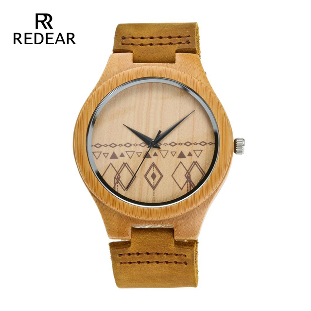 High Quality Couples Wood Watches Without Logo Leather Strap Watch Men Luxury Ha
