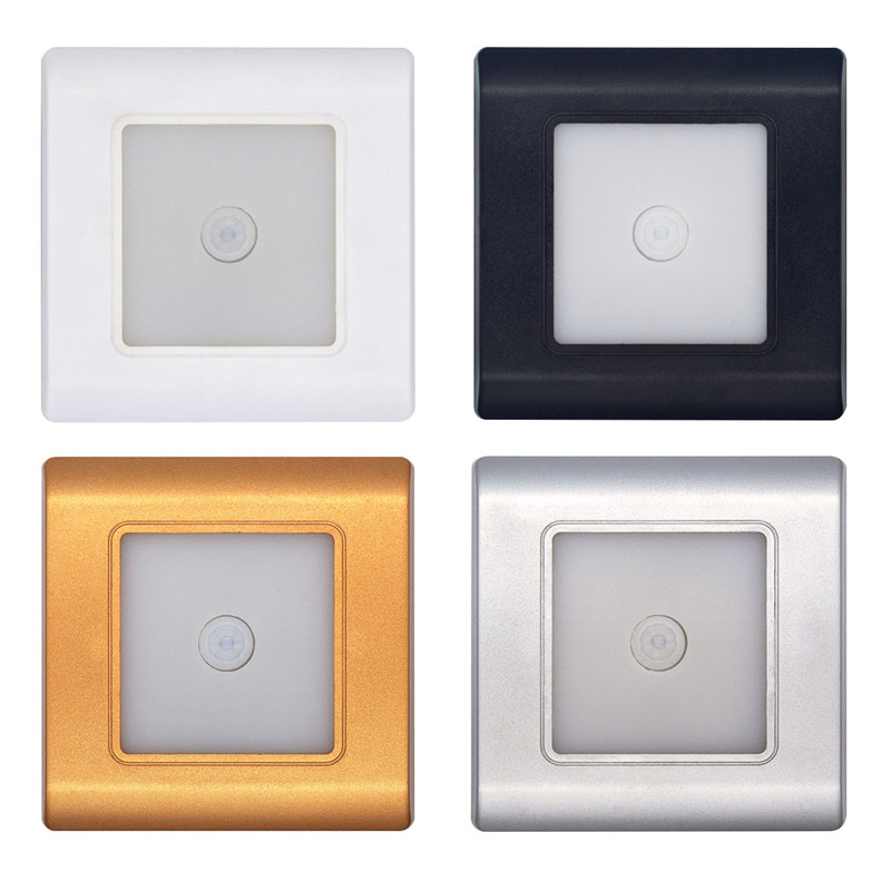 Motion Detector Wall Lamp LED Stairs Lights Body Sensor Lamp 185-265V Recessed Steps Ladder Wall Lamps Footlight Night LightMotion Detector Wall Lamp LED Stairs Lights Body Sensor Lamp 185-265V Recessed Steps Ladder Wall Lamps Footlight Night Light