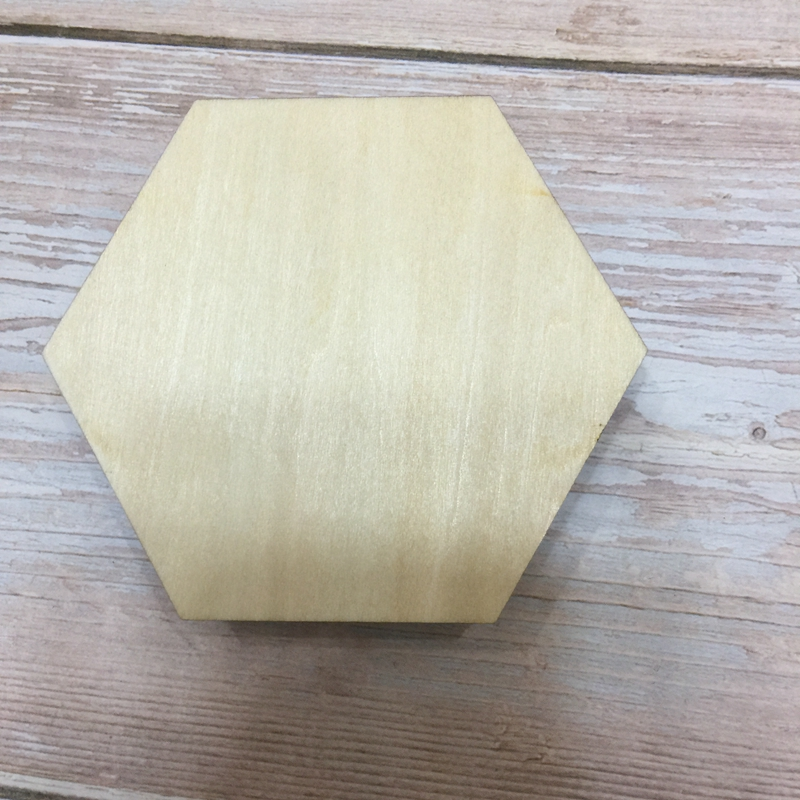 Set Of 50 Wood Plaque Hexagonal Unfinished Wood Coasters Wood Ornament