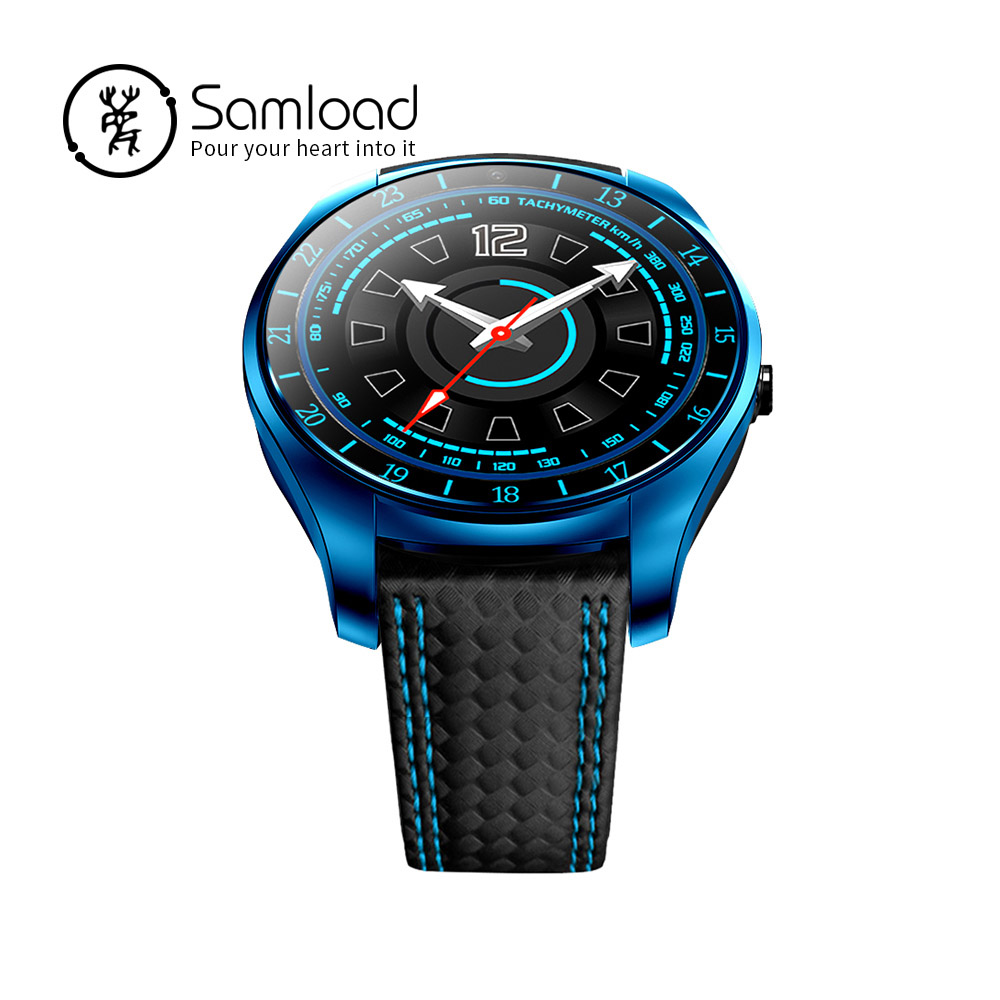 Samload V10 moda reloj inteligente Bluetooth deportes Passometer Micro Sim ritmo cardíaco recordatorio de llamada para iPhone Xiaomi Samsung