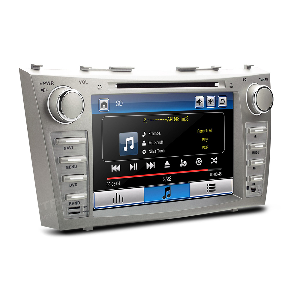 double 2 din car radio stereo dvd gps navi for toyota. Black Bedroom Furniture Sets. Home Design Ideas