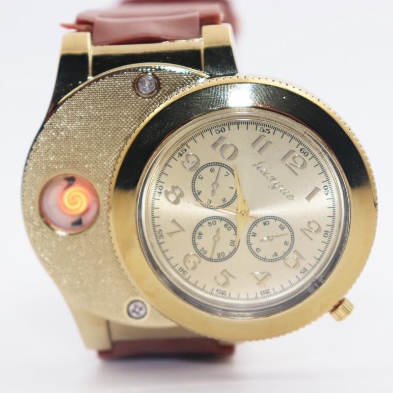 Caliente Moda Casual Deporte Reloj de pulsera USB Encendedor Relojes - Relojes para hombres - foto 4