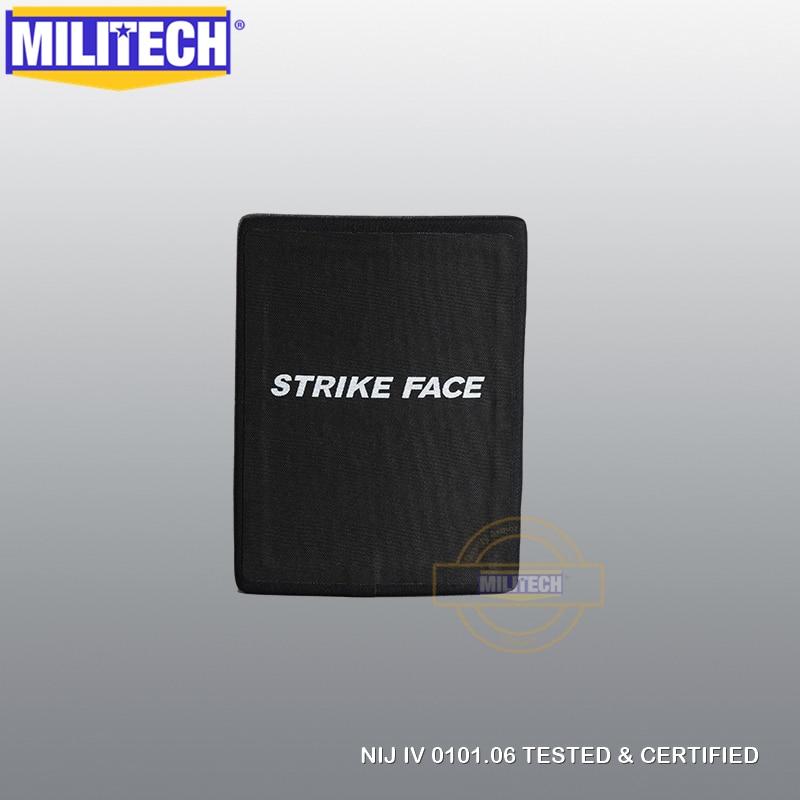 MILITECH 6 '' X 8'' SIC & PE NIJ IV Bulletproof Side Panel NIJ Lvl 4 Stand Alone Ballistic ESAPI NIJ Level 4 SAPI Side Plate