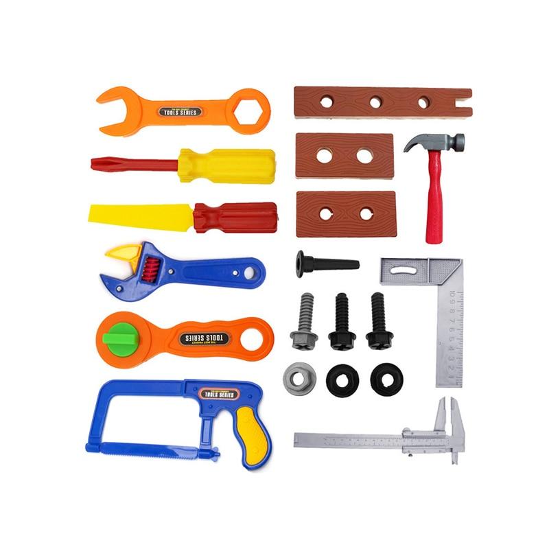 19 Stks Kids Childrens Speelgoed Gebouw Tool Kit Jongens Builder Bouw Play Set Glanzend