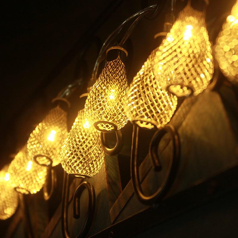 10M 100LEDs 220V vanjski topli bijeli LED string svjetla Metal - Rasvjeta za odmor - Foto 6