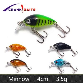 Mini Crankbait Fishing Lures 4cm 3.5g Pesca Minnow Fish Japan Hard Bait Isca Artificial Lures Swimbait  Wobblers Fishing Tackle
