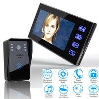 7 Video Door Phone Intercom Doorbell Touch Button Remote Unlock Night Vision Security CCTV Camera Home