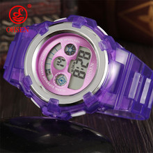 OHSEN Sport Women Watch Students Colorful Electronic Led Digital Kids Watches Multifunction Jelly Wristwatch Hour Candy Clock(China)