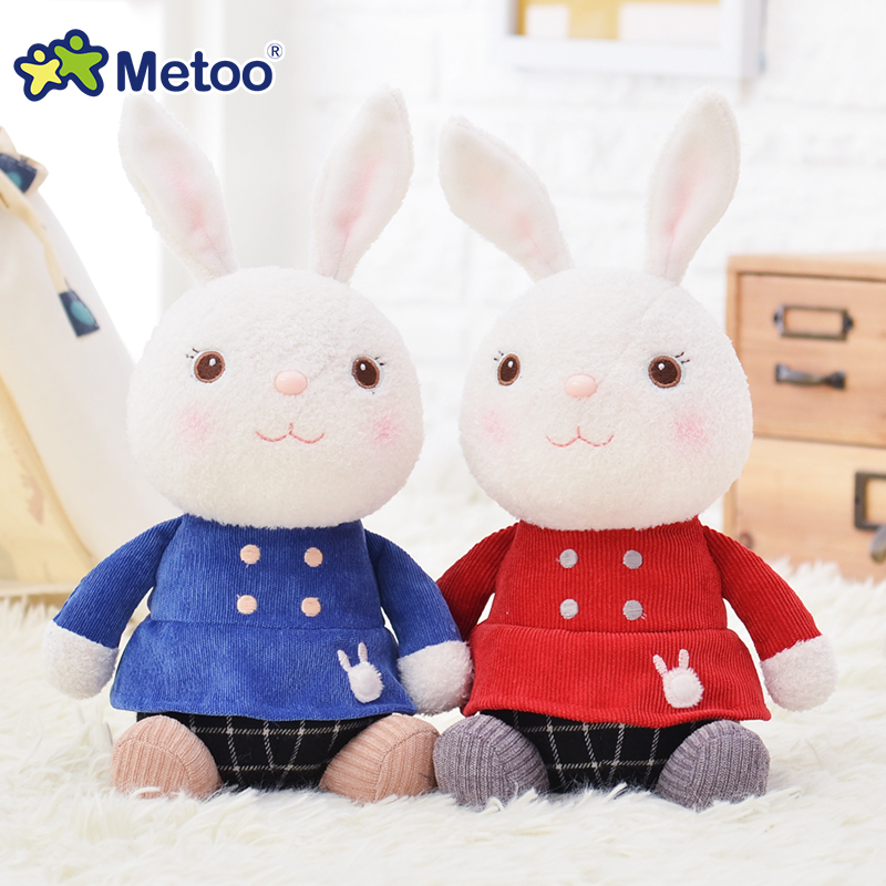 Metoo Плюшевые Куклы мягкая игрушка Tiramitu кролик сидит мягкие Игрушечные лошадки для девочек мягкие Животные маленькая кукла на день рождения ...
