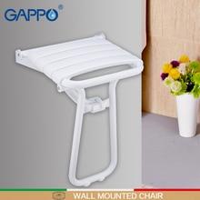 Гаппо настенный сиденье для душа ванны скамья душ складной стул Душ Смесители для ванной комнаты кран-смеситель водопад наборы для ванны