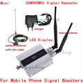 Display LCD! Mini GSM 900 Mhz Móvel Celular Amplificador de Sinal RF Repetidor Impulsionador Kit + duplo antena Interior com 10 M cabo