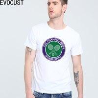 Wimbledon Grand Slam Tennis T Shirt Top Lycra Cotton Men T Shirt New Design High Quality