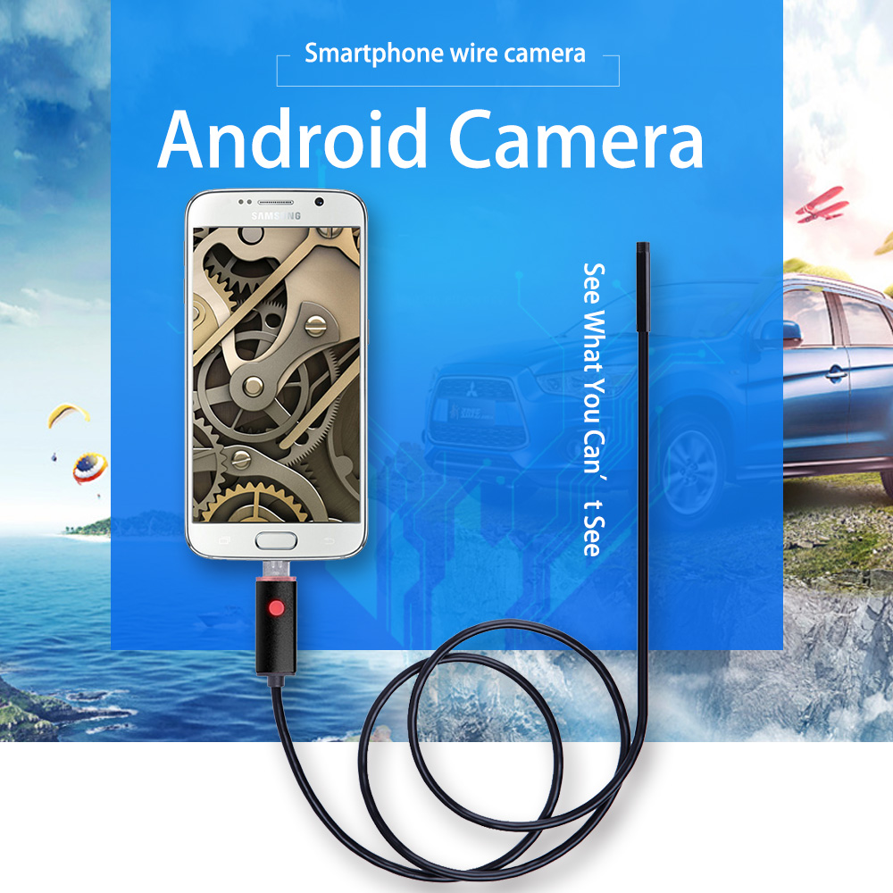 SANNCE 2M 5M 10M 6LED 2IN1 Android Endoscope IP67 Waterproof 5.5MM Inspection Camera Micro USB Video Camera