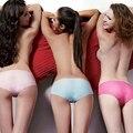Новая Мода Шелковые Трусики женщин Бесшовные Трусики Дамы One Piece Белье Ультратонкий 2016 Трусы Underwear Brand Бесплатные Размер