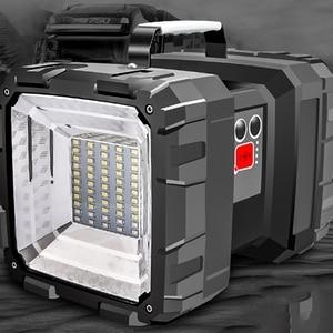 Image 1 - Наружный зарядный портативный солнечный рабочий светильник, дикая рыбалка, ночной рыболовный светильник, светильник для поиска бликов, 500 метров, уличный светильник