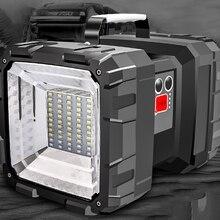 야외 충전 휴대용 태양 작업 빛 야생 낚시 밤 낚시 빛 눈부심 서치 500 미터 손전등 야외 Em