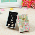 24pcs/Lot 5x8cm Flower Floral Bowknot Jewelry Box Pendant Necklace Earrings Ring Gift Paper Case Free Shipping