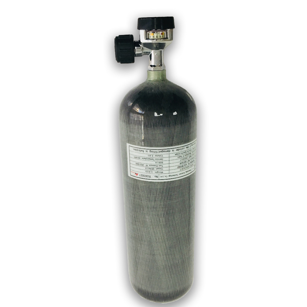 AC16821 High Pressure 6.8L 300bar Gas Cylinder For Compressed Rifle Airgun Aqualung Dive Pcp Rifle With Valve Drop Shipping
